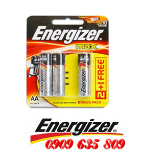 E91-BP3, Pin AA Energizer Max E91BP3 AAlkaline 1.5v Made in Singapore
