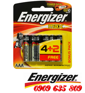 Energizer E92BP6, Pin AA 1.5v Energizer E92BP6 alkaline Made in Singapore| HẾT HÀNG