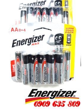 Energizer E91; Pin tiểu AA 1.5v Energizer E91 BP8+4 Max Power Seal Singapore (Vỉ 12viên)